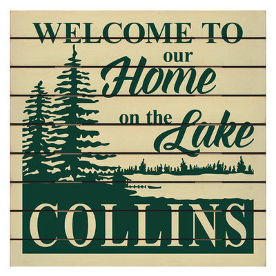 Welcome To Our Home Personalized Sign
