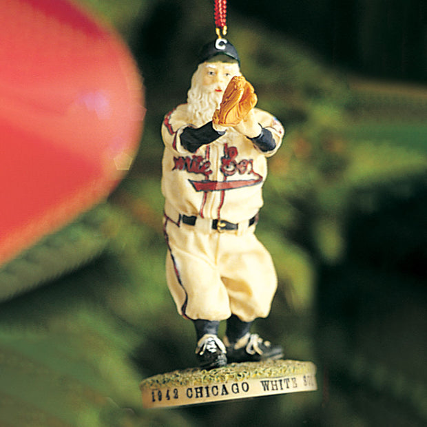 Chicago White Sox Santa Ornament