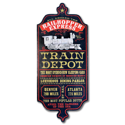 Train Depot Personalized Dubliner Sign