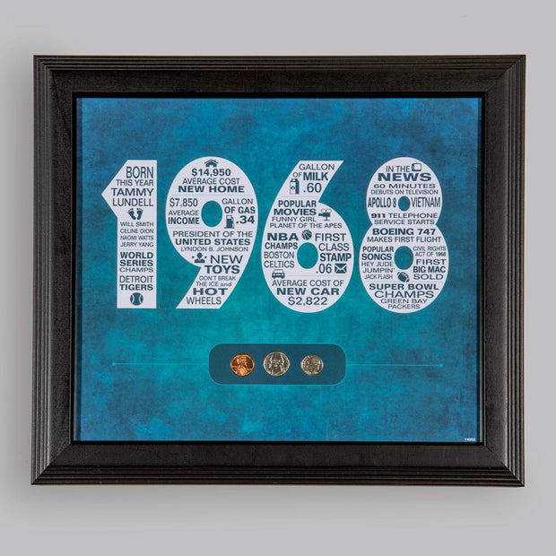 Year to Remember Personalized Wall Frame 1934-2017