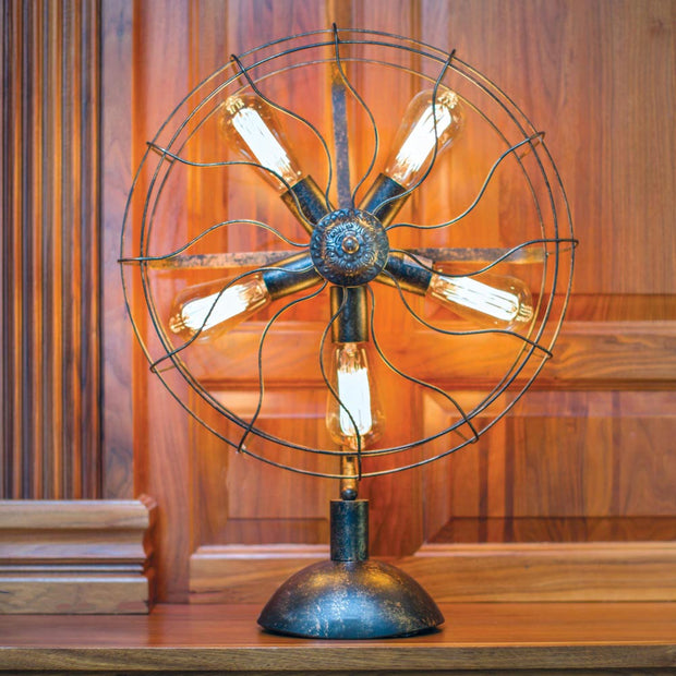 Metal Fan Light with Bulb