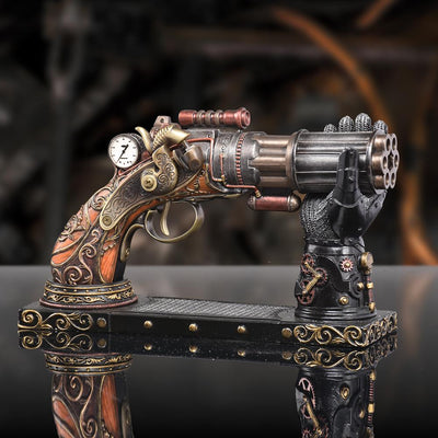 Steampunk Pistol and Gauntlet Stand Replica