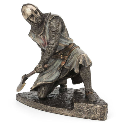 Templar Knight Kneeling with Axe