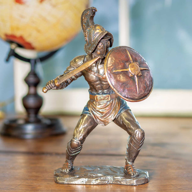 Murmillo Gladiator with Sword and Shield