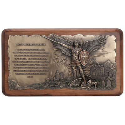 Saint Michael Prayer Wall Plaque