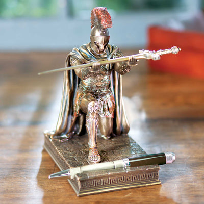Roman Commander Kneeling Pen Holder