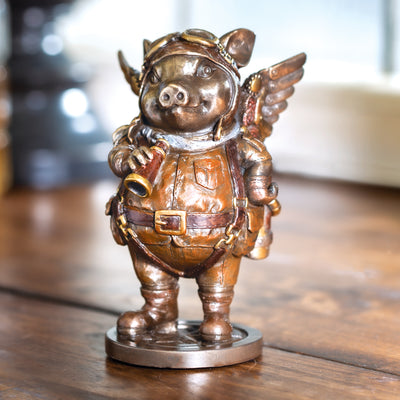 Steampunk Aviator Flying Piggy