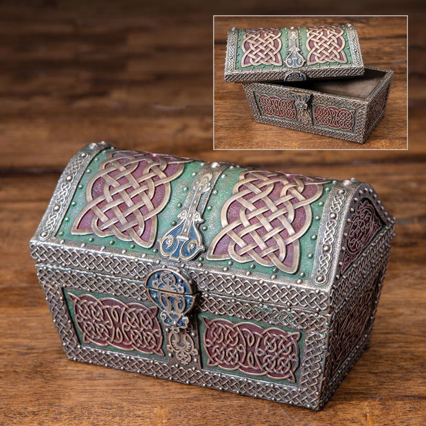 Celtic Pattern Treasure Chest