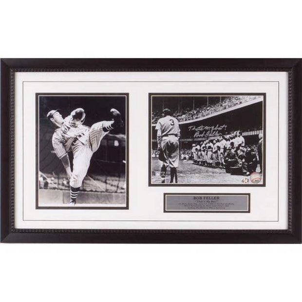 Babe Ruth and Bob Feller Frame