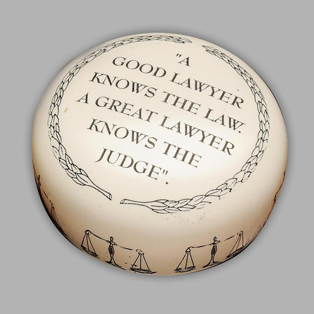 Good Lawyer Paperweight