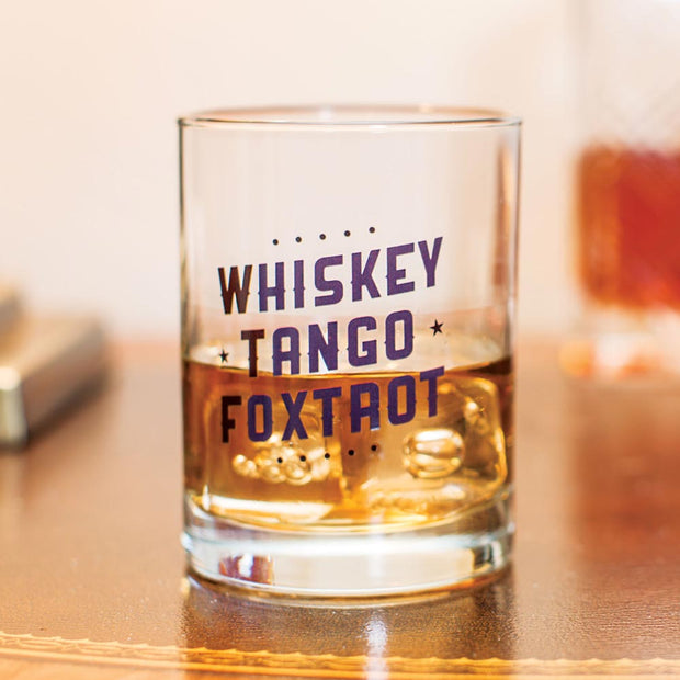 Whiskey Tango Foxtrot Old Fashion Glass