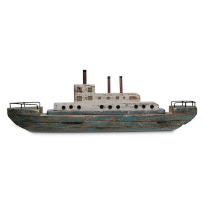 Paulownia Wood & Metal Ship