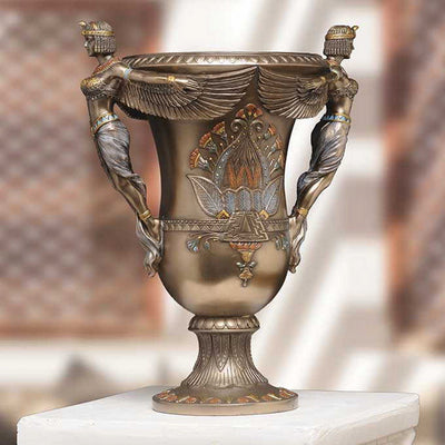 Egyptian Winged Goddess Vase