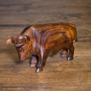 Ironwood Bear and Bull Carving
