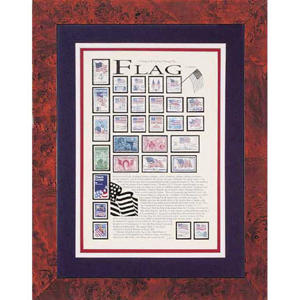 Flag Stamp Framed Collection