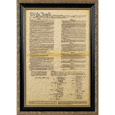 Framed Declaration of Independence And Framed Constitution Set