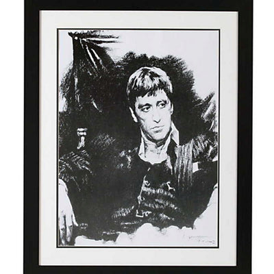 Framed Print Of Al Pacino As Scarface