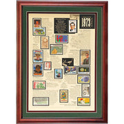 Framed Stamp Of The Year Collection