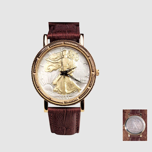 Walking Liberty Coin Wrist Watch