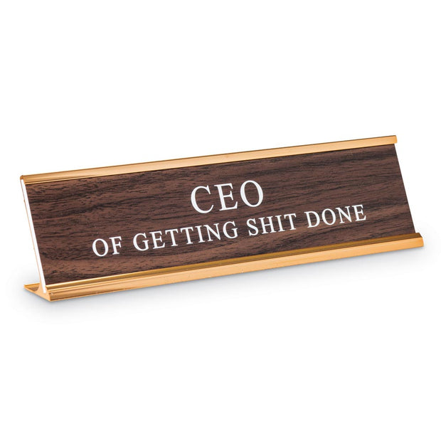 CEO Desk Sign