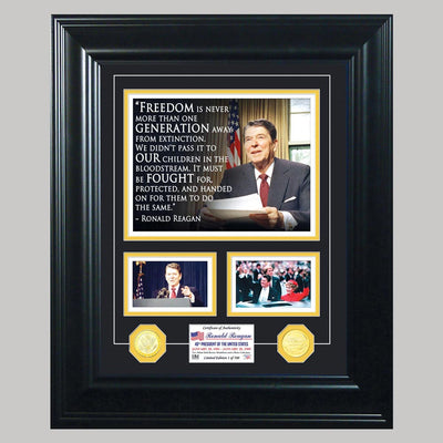 Ronald Reagan Framed Quote