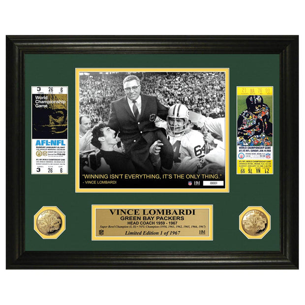 Coach Lombardi Ticket Frame