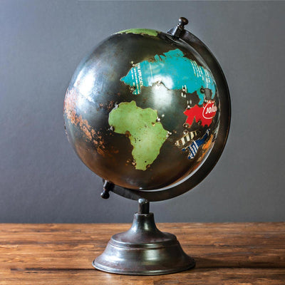 Reclaimed Metal Globe