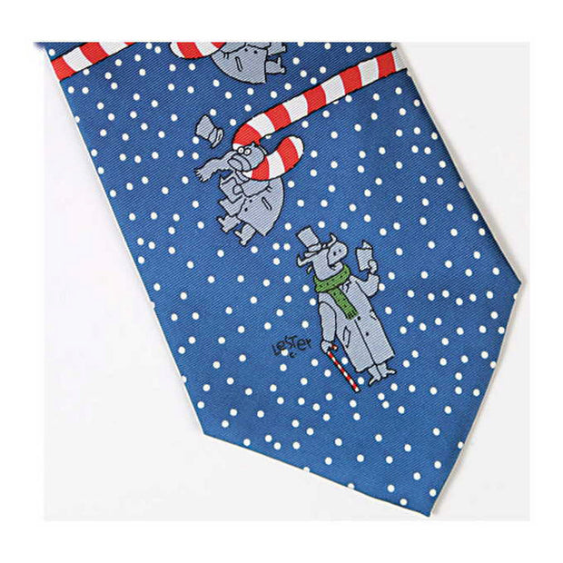 Holiday Bull And Bear Tie