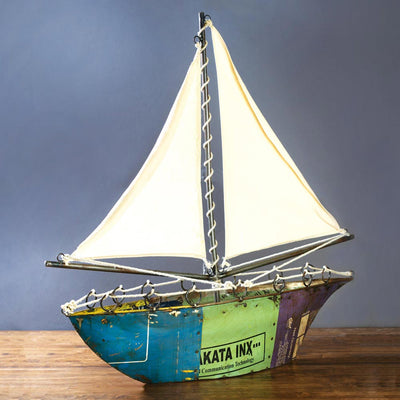 Reclaimed Metal Sailboat