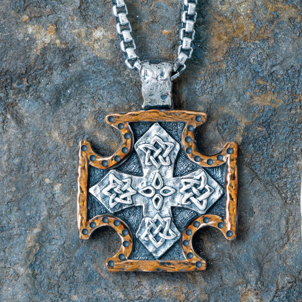 Small Biker Cross Pendant