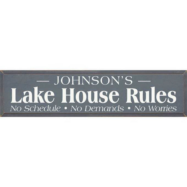 Lake House Personalized Plaque