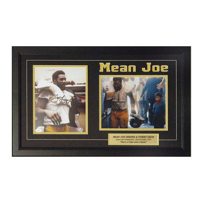 Mean Joe Greene Autographed Framed Photo