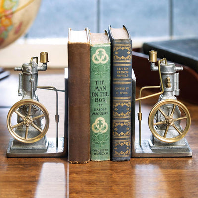 Vertical Engine Bookends