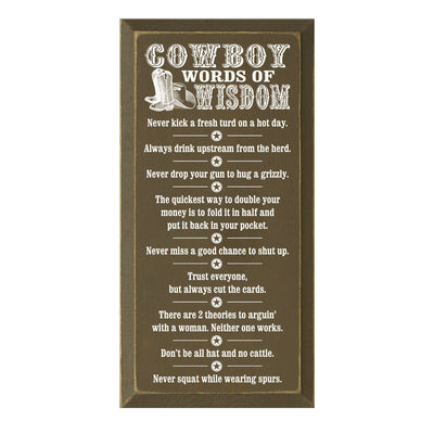 Cowboy Words of Wisdom