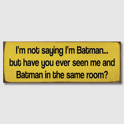 Batman Plaque