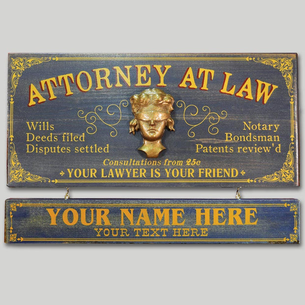 Attorney Occupational Sign with Name Board