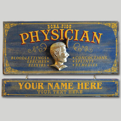 Physician Occupational Sign with Name Board