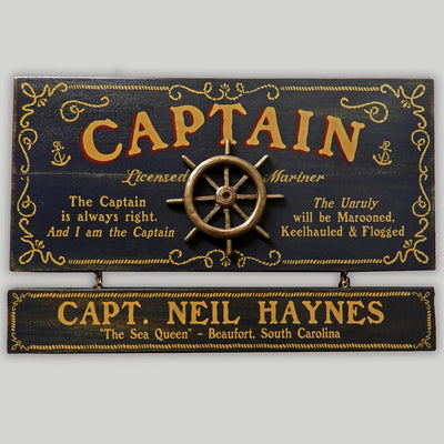 Captain Sign with Name Board