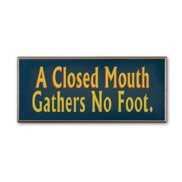 Closed Mouth Sign