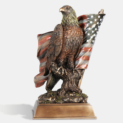 Eagle with Flag Sculpture