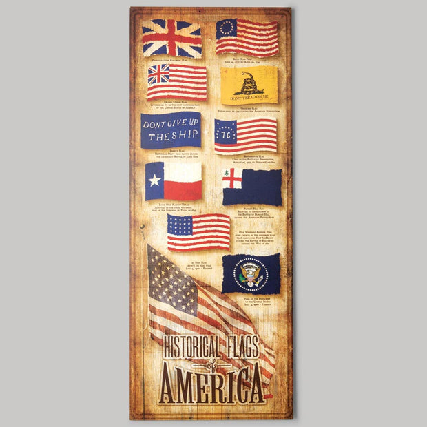 Historical Flags of America Sign