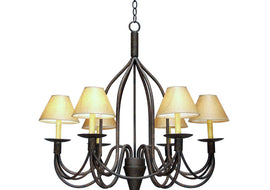 "Chandelier - 2nd Ave. Lighting 32"" Wide Bell 6 Light Chandelier 87062.32"