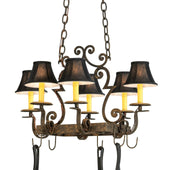 "Pot Rack - 2nd Ave. Lighting 28""L Elara 6 LT Pot Rack 8017.26.ES"