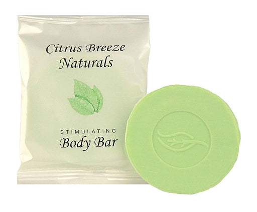 Hotel-Motel Body bar soap. Citrus Breeze Naturals-collection. with organic Aloe Vera #150 sachet. 500 items pack, 0.22 USD per item