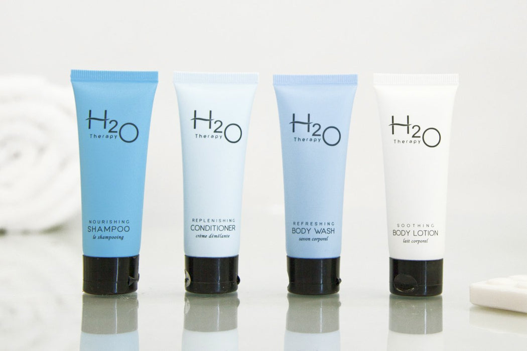 Hotel body wash. H20 Earth-conscious collection, 1 oz/30ml. 300 items pack, 0.38 USD per item