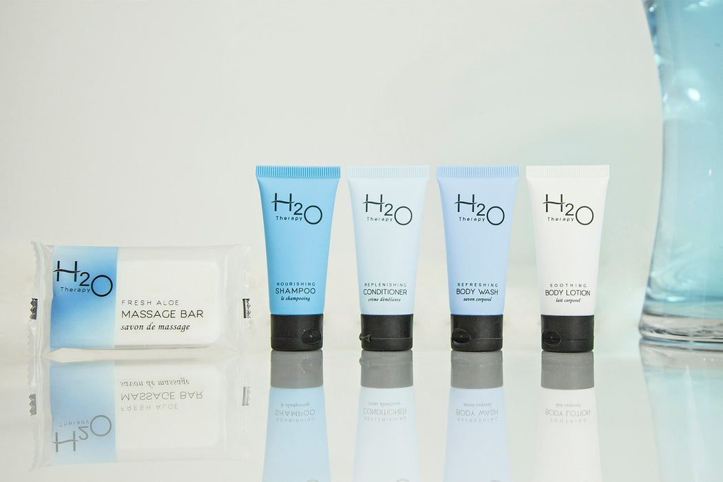 Hotel conditioner. H20 Earth-conscious collection. 0.85 oz/25ml. 300 items pack, 0.35 USD per item