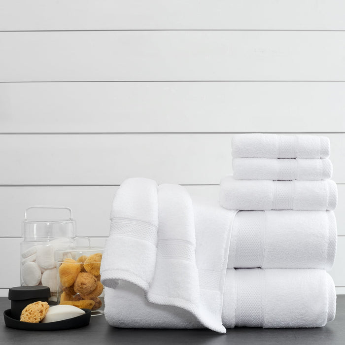30 x 60, Luxury Lynova bath towels by Standard Textile. 100% zero-twist cotton white towels. Case of 36 pieces