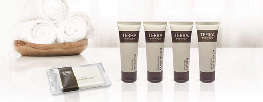 Hotel conditioner. Terra therapy-collection. 1.0 oz/30ml tube flip cap. 300 items pack, 0.40 USD per item