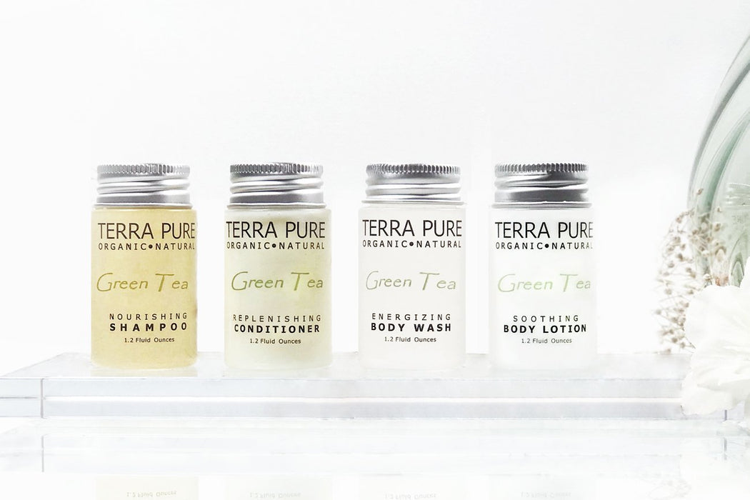 Hotel facial soap. Terra Pure green tea collection. 1.0 oz/28g. 250 Items pack, 0.41 USD per item
