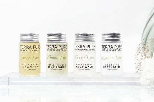 TERRA PURE GREEN TEA ALL LIQUID BULK SET. Shampoo, Conditioner, Lotion and Body Wash. Save up to 10%. 1200 Items